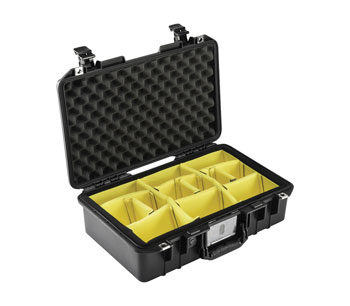 PELI 1485 AIR CASE With padded dividers, internal dimensions 450.9 x 258.6 x 156.2mm, black
