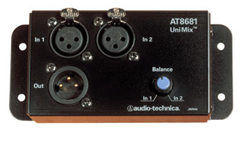 AUDIO TECHNICA AT8681 UNIMIX COMBINEUR deux micros vers un