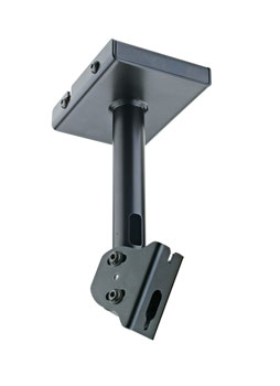 K&M 24496 LOUDSPEAKER MOUNT Ceiling, up to 25kg, 0-45 degree tilt, 90 degree swivel, black