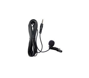 AMPETRONIC EM1.2 MICROPHONE Tie-clip, electret, omni-directional, mono 3.5mm jack connector, black
