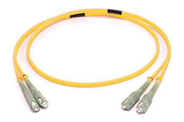 SC-SC SM DUPLEX OS2 9/125 CORDON PATCH FIBRE OPTIQUE 1m, jaune