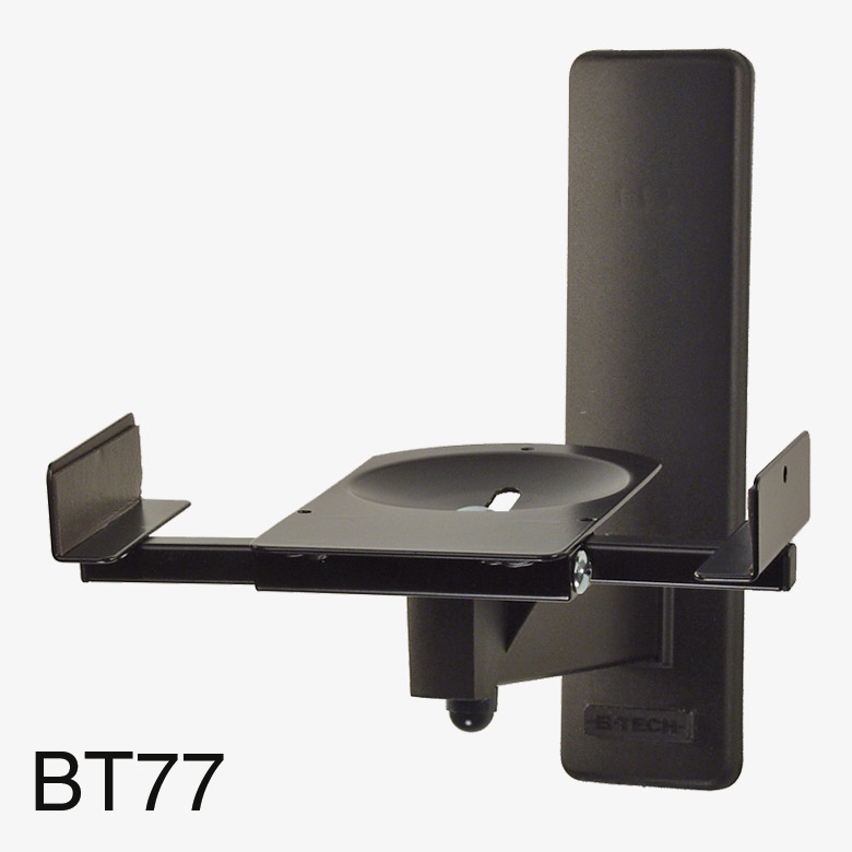 b tech bt77 ultragrip pro support mural pour enceinte 25kg max inclinable pivotable noir paire. Black Bedroom Furniture Sets. Home Design Ideas