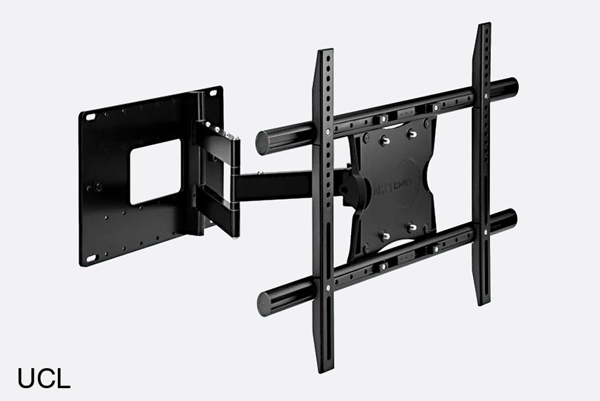 omnimount ucl support mural ecran plat universel double bras pivot l noir. Black Bedroom Furniture Sets. Home Design Ideas