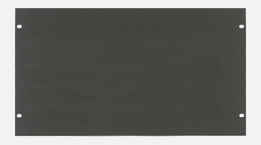 canford panneau vierge pour rack 6u acier gris fonc. Black Bedroom Furniture Sets. Home Design Ideas