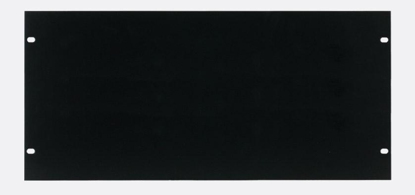 canford panneau vierge pour rack 5u acier peinture noire. Black Bedroom Furniture Sets. Home Design Ideas