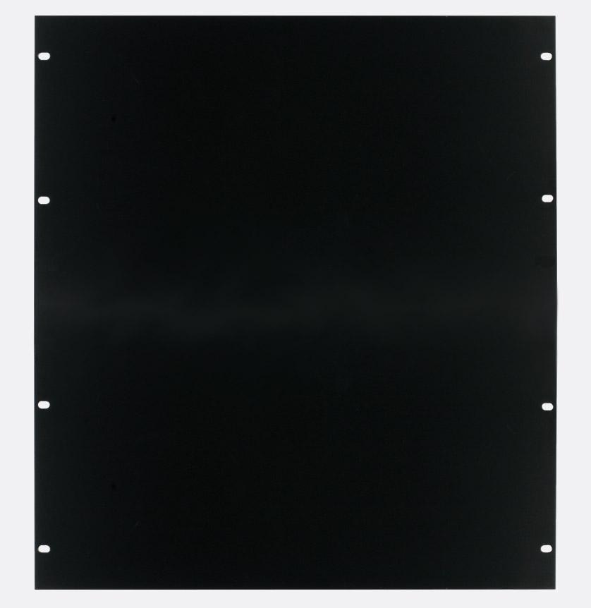 canford panneau vierge pour rack 12u acier peinture noire. Black Bedroom Furniture Sets. Home Design Ideas