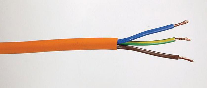 cable secteur flexible 3 conducteurs pvc arctic orange. Black Bedroom Furniture Sets. Home Design Ideas