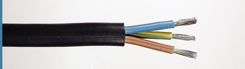 cable secteur flexible 3 conducteurs 6mm2 caoutchouc noir. Black Bedroom Furniture Sets. Home Design Ideas