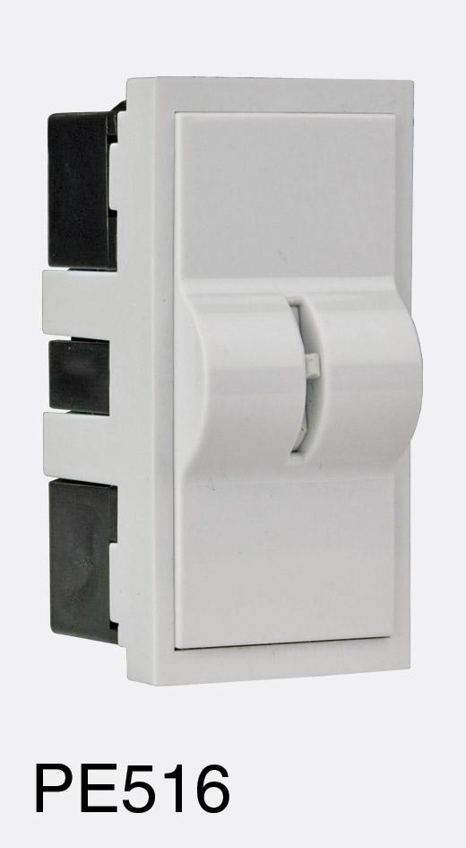 rpp easyclip pe516 module interrupteur a clef 16a double p les 1 2 module blanc. Black Bedroom Furniture Sets. Home Design Ideas