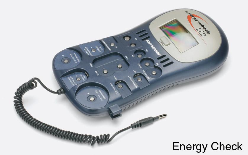 ansmann energy check verificateur de piles avec cran lcd pour piles courantes. Black Bedroom Furniture Sets. Home Design Ideas