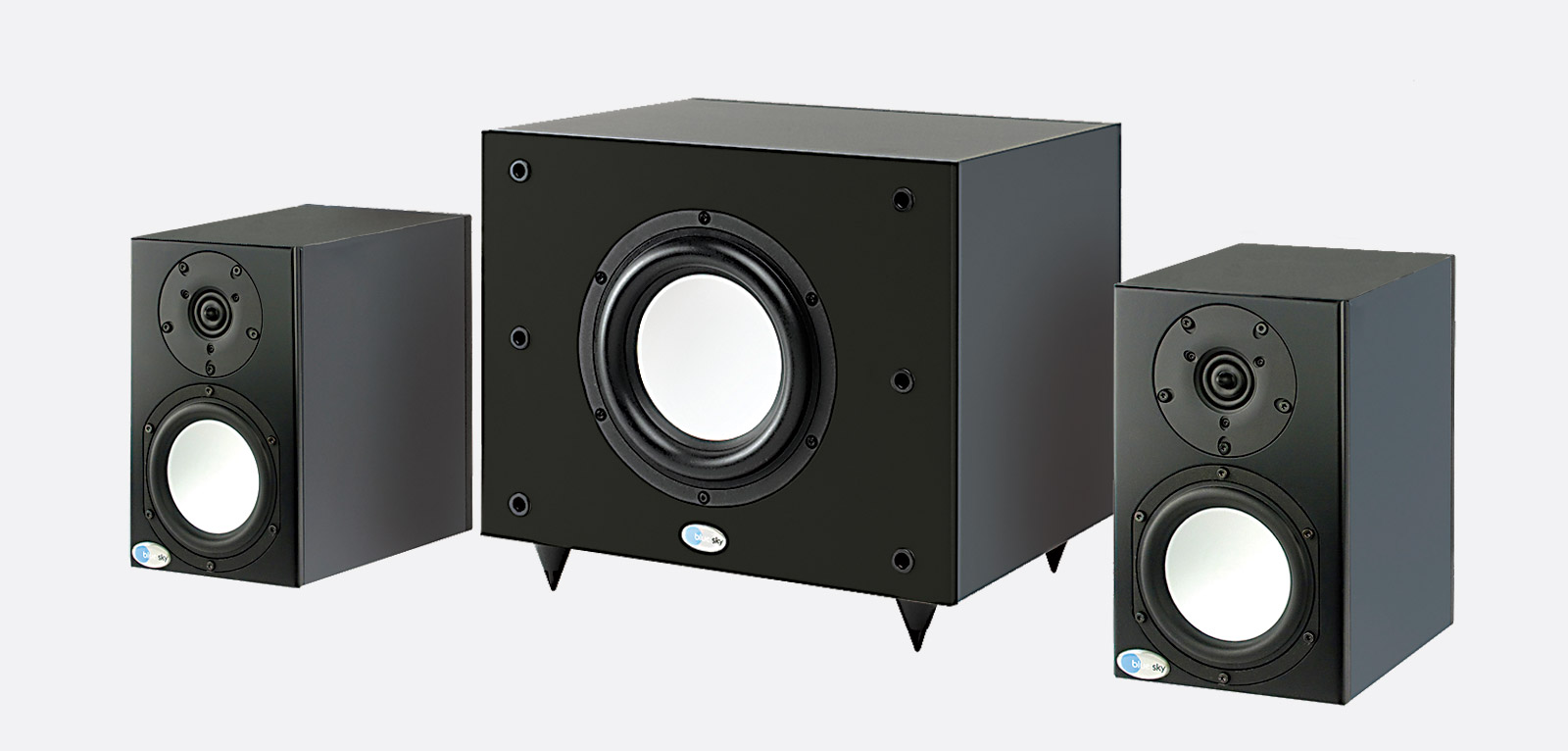 blue sky prodesk mkiii 2.1 systeme haut-parleur actifs, 2x sat5.25