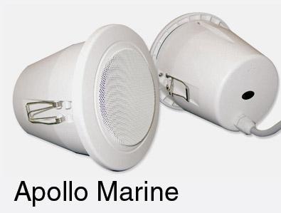 Ads tourline marine haut parleur pour plafond fixation en - Haut parleur encastrable faux plafond ...
