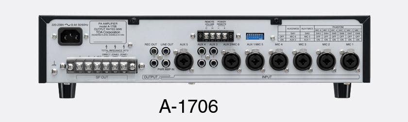Toa A 1724 Ampli Mixeur Portable 240w 4 Ligne 100v