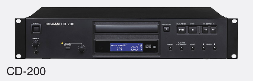 tascam cd 200 lecteur cd mp3 wav rca sp dif mont rack 2u. Black Bedroom Furniture Sets. Home Design Ideas