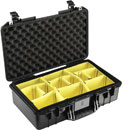 PELI 1525 AIR CASE With padded dividers, internal dimensions 520.7 x 287 x 171.5mm, black