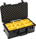 PELI 1535 AIR CASE With padded dividers, wheeled, internal dimensions 517.9 x 284.5 x 182.9mm, black