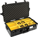 PELI 1605 AIR CASE With padded dividers, internal dimensions 660.4 x 355.6 x 212.9mm, black