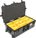 PELI 1615 AIR CASE With padded dividers, wheeled, internal dimensions 751.6 x 393.7 x 238.3mm, black