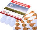 RYCOTE 065527 OVERCOVERS MIC MOUNTS Stickies and fur Overcovers, white (1pk of 30+6)