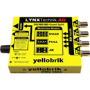 LYNX YELLOBRIK QUAD SPLIT MULTIVIEW ET MONITEUR DE SIGNAL - 3G/HD/SD-SDI - Avec option 4K (4x 3G)